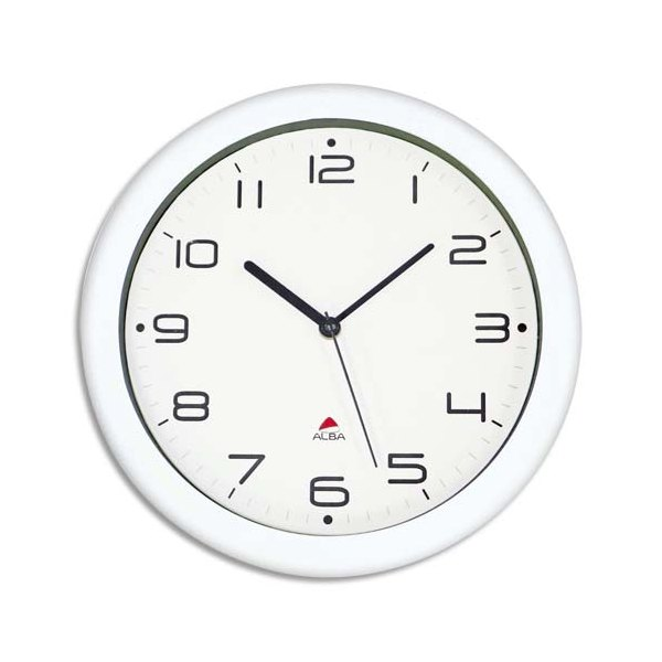 alba horloge murale hormur hornew silencieuse diam 30cm blanc. Black Bedroom Furniture Sets. Home Design Ideas