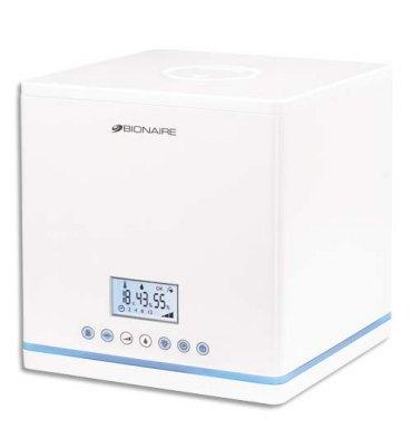 BIONAIRE Humidificateur d'air compact à ultrasons digital BU7500 2,7L 27W Ecran LCD L26xH26xP25 cm blanc