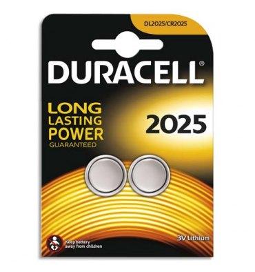 DURACELL Blister de 2 piles 2025 Lithium Duralock pour appareils électroniques