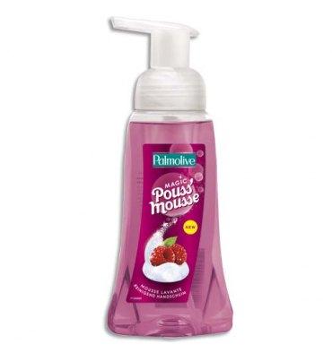 PALMOLIVE Flacon pompe 250 ml mousse lavante Pouss'Mousse volumineuse et compacte parfum Framboise