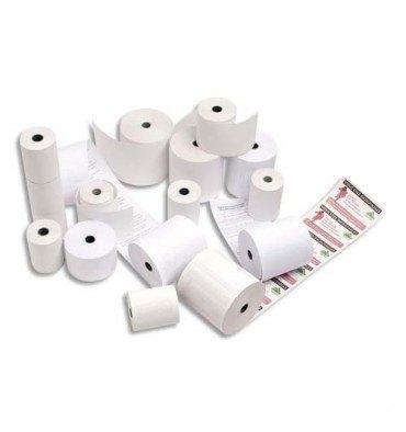 EXACOMPTA Bobine pour cartes bancaires thermiques 1 pli pour terminaux portables, dimensions 57 x 30 x 12 mm