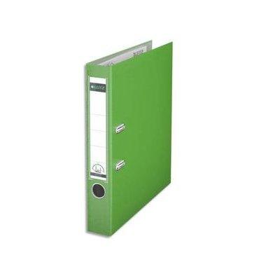 LEITZ Classeur à levier 180 degrés en carton rembordé de polypropylène dos 8 cm coloris vert clair