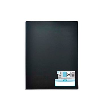ELBA Protège-documents en polypropylène memphis noir, 40 vues 20 pochettes