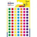 AVERY Sachet de 420 pastilles diamètre 8 mm. Ecriture manuelle. Coloris assortis