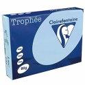 CLAIREFONTAINE Ramette de 500 feuilles papier couleur TROPHEE 80g A4 bleu vif