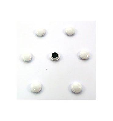 5 ETOILES Boîte de 7 aimants 22 mm ronds blanc