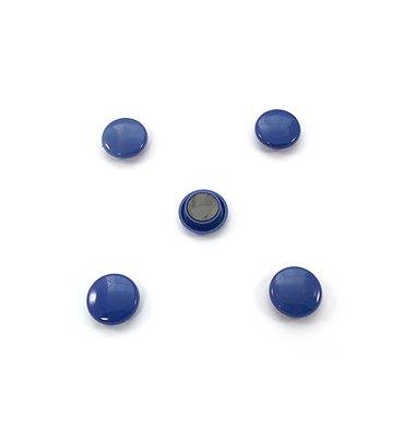 5 ETOILES Boîte de 5 aimants 27 mm ronds bleu