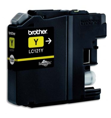 BROTHER Cartouche jet d'encre jaune LC121Y