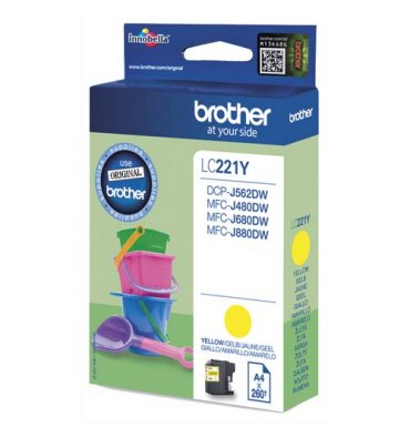 BROTHER Cartouche jet d'encre jaune LC221Y