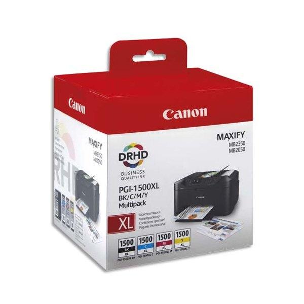 CANON Multipack 4 couleurs jet d'encre PGI1500XL 9182B004 (photo)