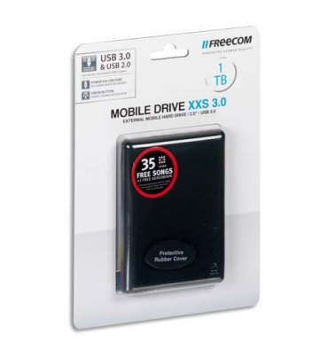 "FREECOM Disque dur 2,5"" USB 3.0 Mobile Drive XXS 1To 56007 + redevance"