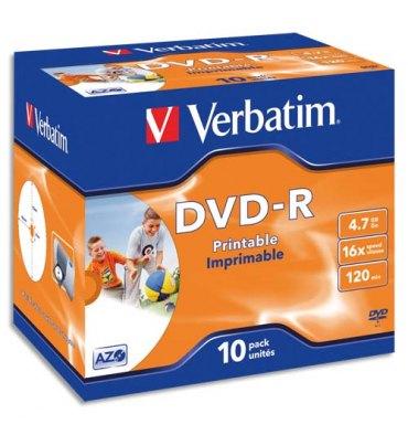 VERBATIM Mini pack de 5 boîtiers slim cristal DVD-RW 8cm 1.4Go 4x + redv