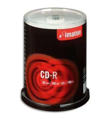 IMATION Pack de 10 CD-R 80mn + redevance