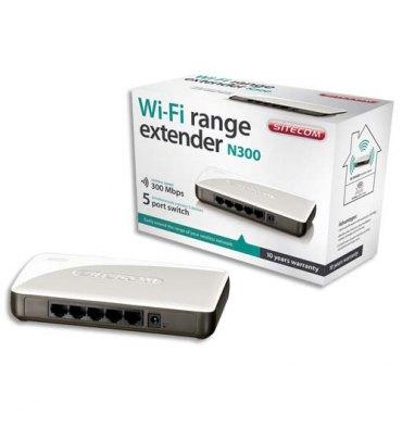 SITECOM Amplificateur de signal Wi-Fi 5 ports, 300Mbit/s, pour routeurs 802.11ac WLX-2001