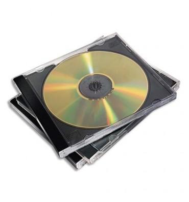 FELLOWES Packs de 10 boitiers CD standards noirs 98310