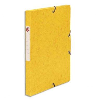 5 ETOILES Boîte de classement à élastique en carte lustrée 7/10, 600g. Dos 25 mm. Coloris jaune