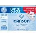 CANSON Pochettes de 12 feuilles papier calque satin 70g A4 livrée avec pastilles repositionnables