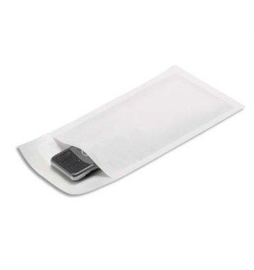 EMBALLAGE Paquet de 10 pochettes matelassées en kraft blanches bulles format 120 x 210 mm