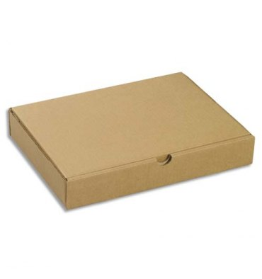 EMBALLAGE Boîte postale extra-plate en carton brun - Dimensions : 215 x 50 x 155 mm