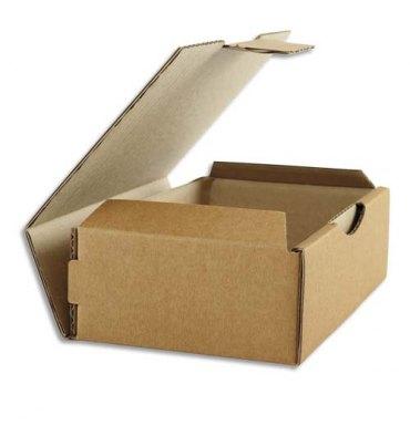 EMBALLAGE Boîte postale en carton brun simple cannelure - Dimensions : 24 x 5 x 17 cm