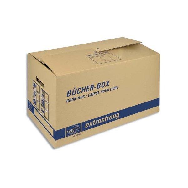 COLOMPAC Boîte transport spéciale livre, capacité 30Kg - Dimensions : 57,5 x 29,5 x 33,1 cm brun (photo)