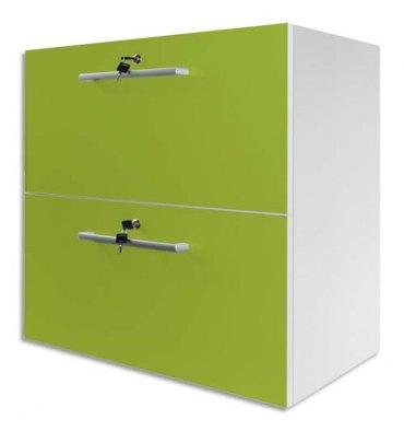MT INTERNATIONAL Lot de 2 tiroirs crédence MT1 Elégance en PPSM 16 mm L79,5 x H39,5 x P39 cm vert pomme