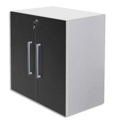 MT INTERNATIONAL Lot de 2 Portes Basses MT1 Elégance pour module - Dim 1 porte L39,7 x H79,5 cm noir