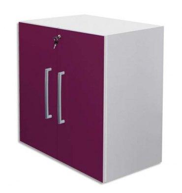 MT INTERNATIONAL Lot de 2 Portes Basses MT1 Elégance pour module - Dim 1 porte L39,7 x H79,5 cm prune