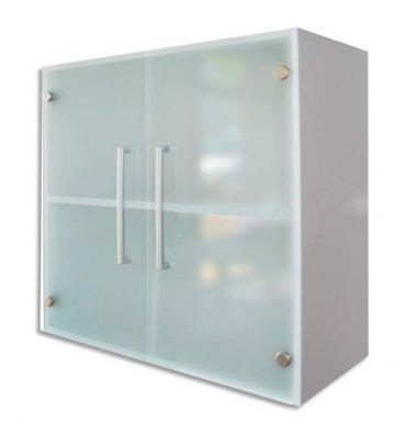 MT INTERNATIONAL Lot de 2 Portes Basses Vitrées MT1 Elégance pour module, Dim 1 porte L38,5 x H79,5 cm