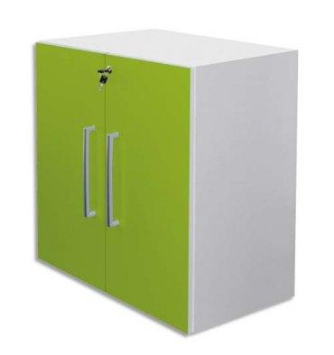 MT INTERNATIONAL Lot de 2 Portes Basses MT1 Elégance pour module, Dim 1 porte L39,7 x H79,5 cm vert pomme