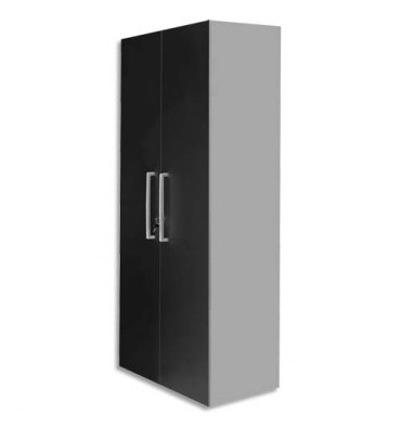 MT INTERNATIONAL Lot de 2 Portes Hautes pour 2 modules MT1 Elégance - Dim 1 porte L39,7 x H159,5 cm noir
