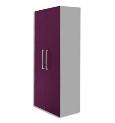 MT INTERNATIONAL Lot de 2 Portes Hautes pour 2 modules MT1 Elégance - Dim 1 porte L39,7 x H159,5 cm prune