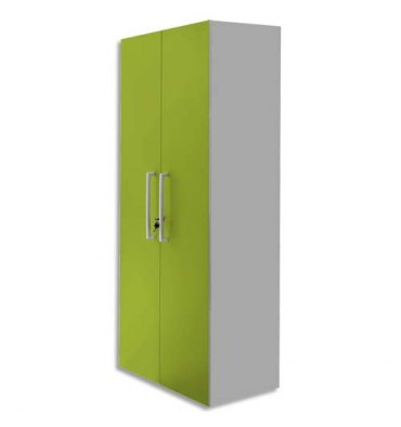 MT INTERNATIONAL Lot de 2 Portes Hautes pour 2 modules MT1 Elégance,1 porte L39,7 x H159,5 cm vert pomme