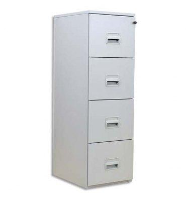 VINCO Classeur à fichier 4 tiroirs gris