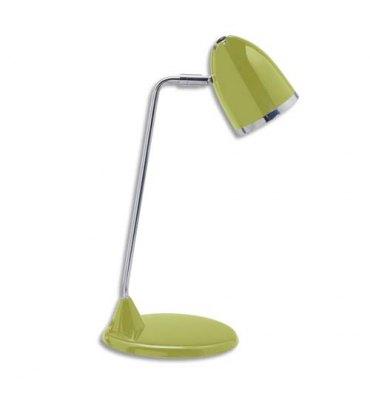 MAUL Lampe Starlet fluorescente livrée avec ampoule bras métal chromé, hauteur 29 cm coloris vert