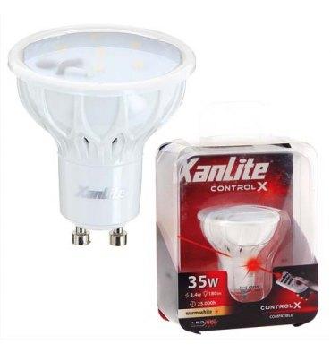 XANLITE Ampoule à Leds culot GU10, 180 lumens, puissance 3,4 Watts Sans télécommande