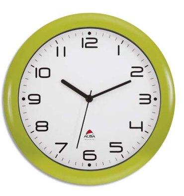 ALBA Horloge murale Hornew anis en ABS et verre - pile AA non fournie - Diamètre 30 cm, profondeur 4 cm