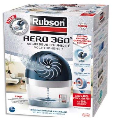 RUBSON Absorbeur d'humidité Aero 360 degré 20 m* + une recharge Tab - Dim. : L18,9 x H24,1 x P11,8 cm