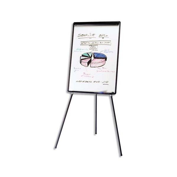 BI-OFFICE Chevalet de conférence mélaminé cadre PVC noir EURO+porte-marqueurs+barrete pivotante (photo)