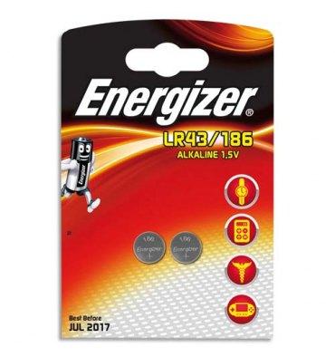 ENERGIZER blister de 2 piles mini LR43/186