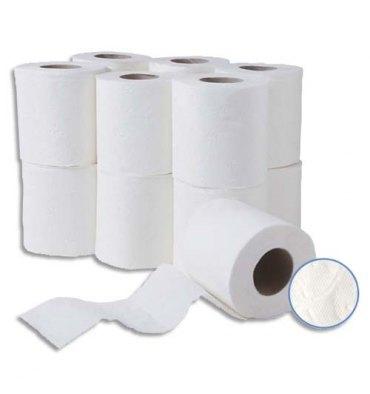 HYGIENE Colis de 24 Rouleaux de Papier toilette pure ouate 2 plis 150 formats blancs