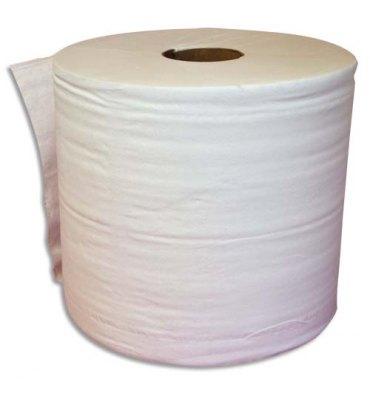 HYGIENE Lot de 2 Bobine d'essuyage 2 plis 1000 formats 30 x 21 cm - L300 m, bobine D25 cm blanc Eco