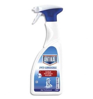 ANTIKAL Spray 750 ml Détergent détartrant pour les sanitaires parfum frais
