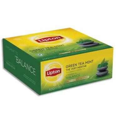 LIPTON Boîte de 100 sachets fraicheur de thé menthe