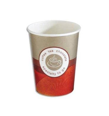 HUHTAMAKI Sachet de 50 gobelets 25 cl boissons chaudes en carton épais