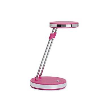 MAUL Lampe Puck LED, rose, double bras télescopique en acier, tête inclinable 180°, commutateur socle