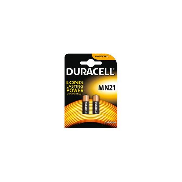 DURACELL Blister de 2 piles MN21 Alcalines Duralock pour alarmes et télécommandes (photo)