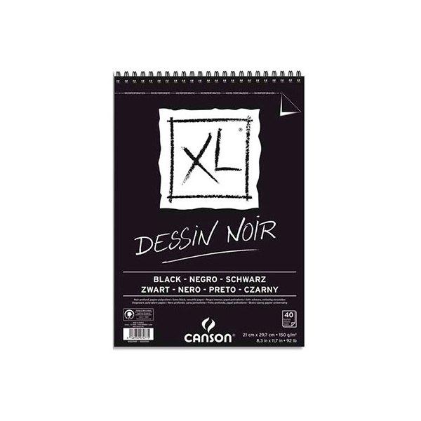 canson 40 feuilles de papier dessin xl dessin noir 150 g a3 livr en 24h. Black Bedroom Furniture Sets. Home Design Ideas