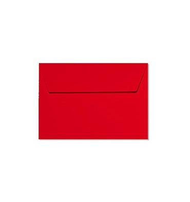CLAIREFONTAINE Paquet de 20 enveloppes 120g POLLEN 11,4 x 16,2cm (C6). Coloris rouge groseille