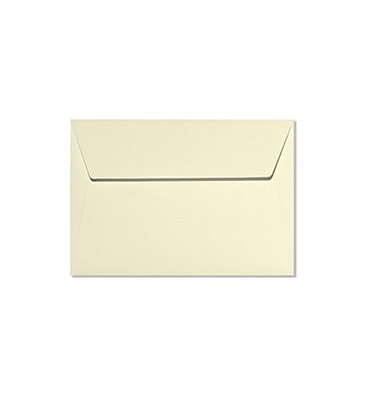 CLAIREFONTAINE Paquet de 20 enveloppes 120g POLLEN 11,4 x 16,2cm (C6). Coloris ivoire